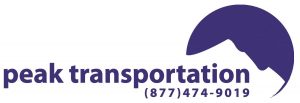 Peak Transportation Logo | (877) 474-9019