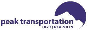 Peak Transportation Logo | (877) 474-9019