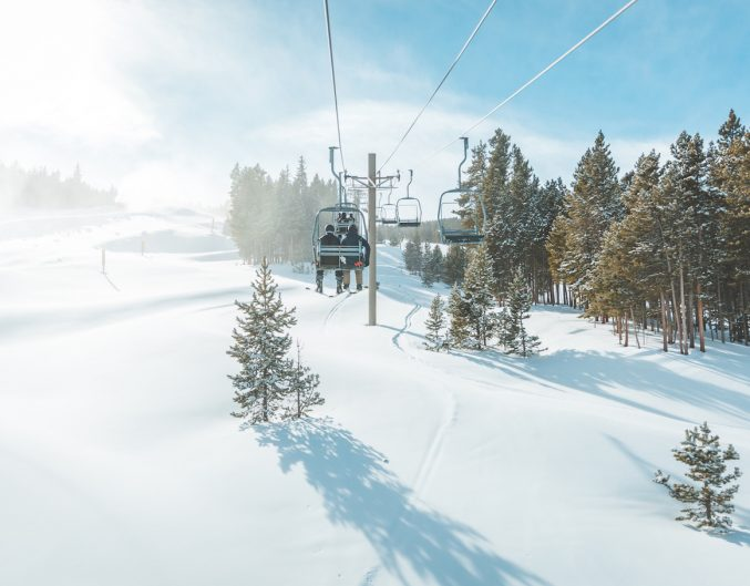 Scenic view of Breckenridge ski resort , Colorado.